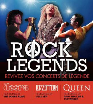 Rock Legends : Tribute Bands - Gary Mullen and The Works - Letz Zep - The Doors Alive